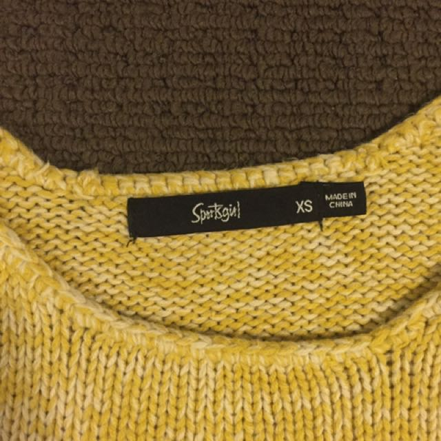 Sportsgirl Yellow Crop
