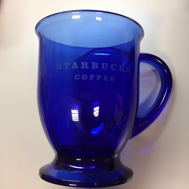 Starbucks Cobalt Blue Glass Mug