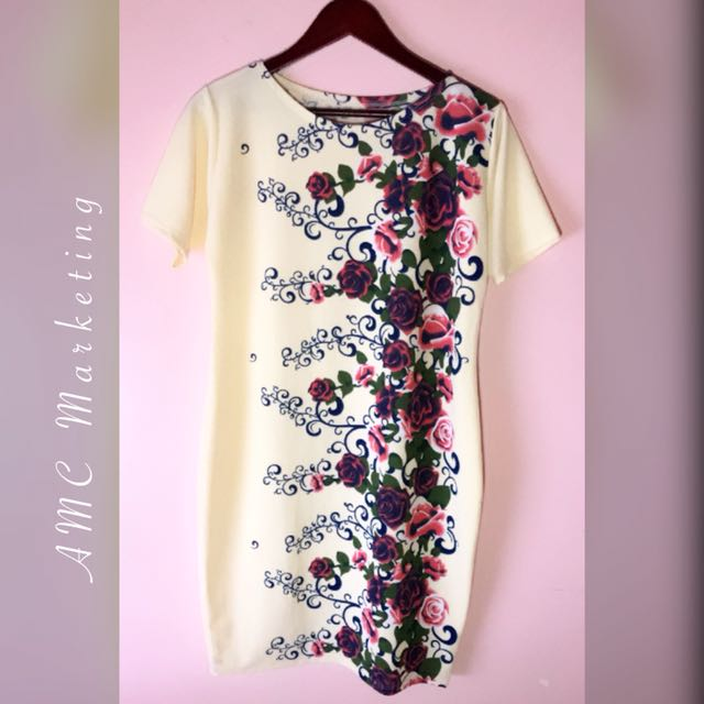 Straight floral dress