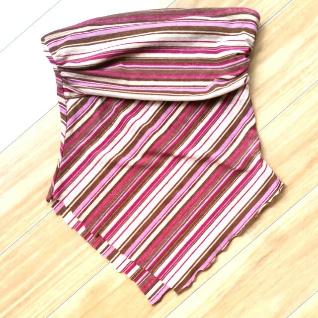 Strapless Suprè top stripes, size small