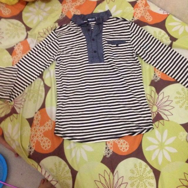 Stripe yellow and black long sleeves