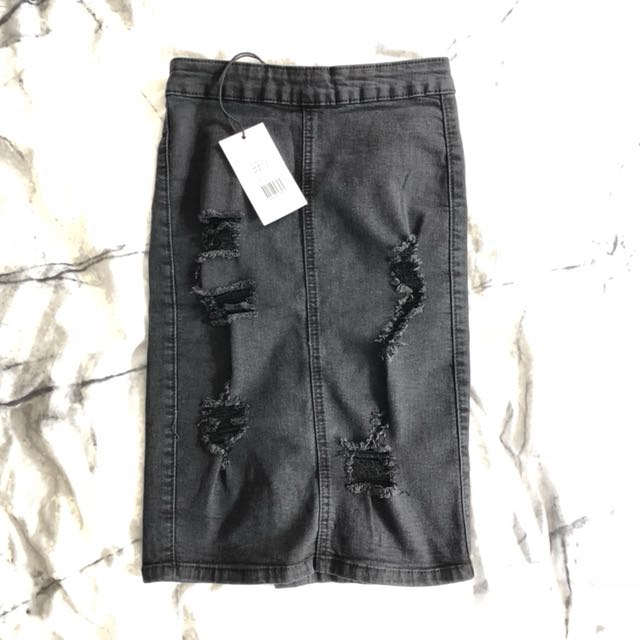 Supre Distressed Pencil Skirt