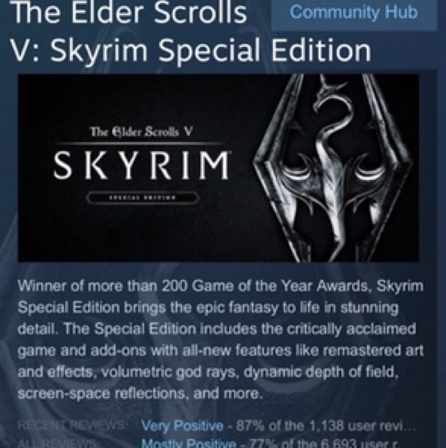 The Elder Scrolls 5 Special Edition
