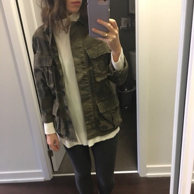 Topshop Camo Jacket size small (fits oversized)