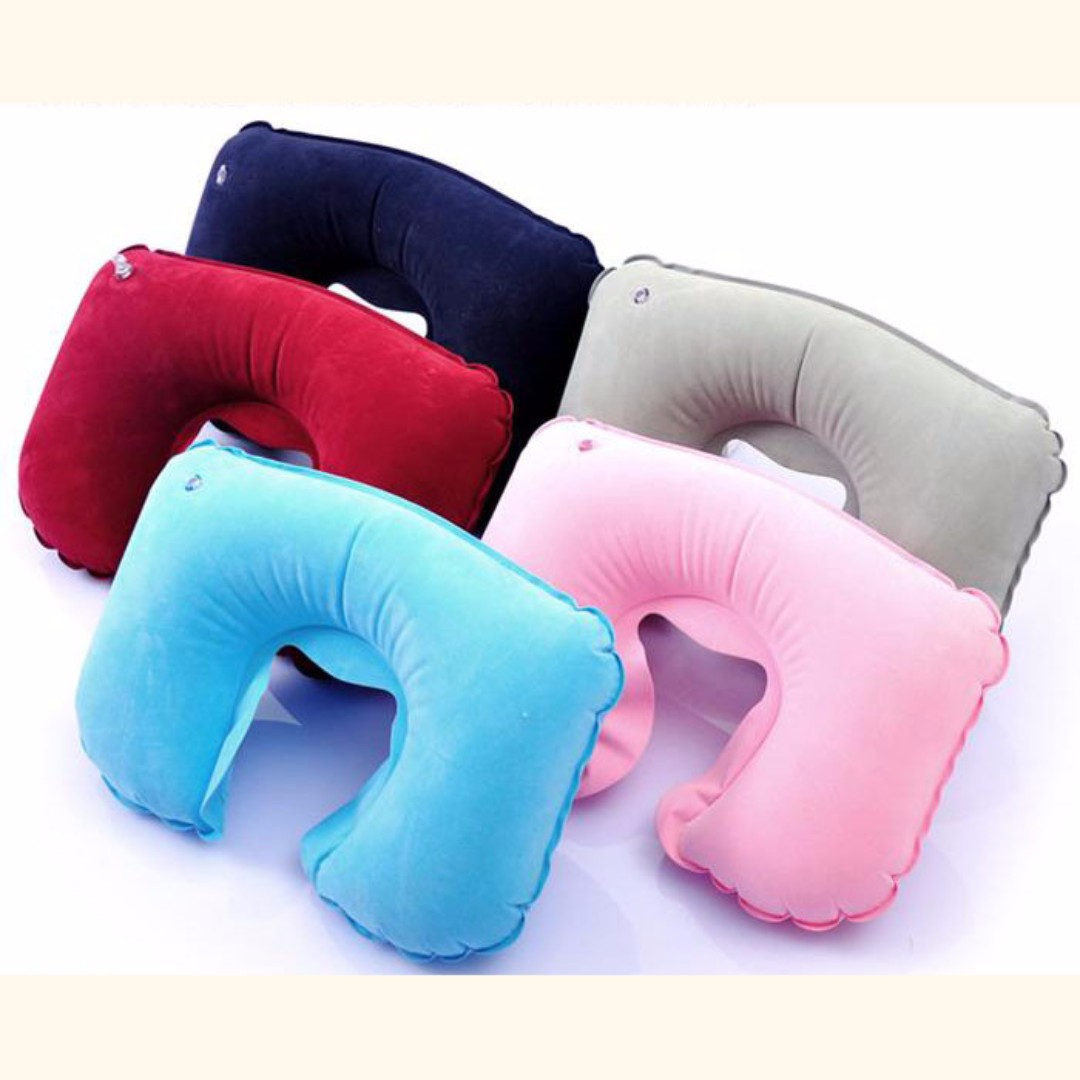 Travel Inflatable Neck U Shape Pillow Mask Earplug Set B11403