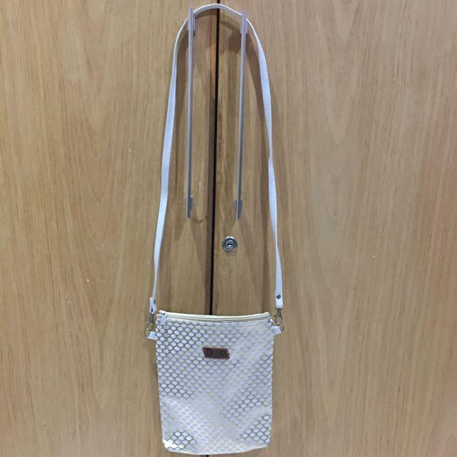 TURUN HARGA White Polkadot Bag