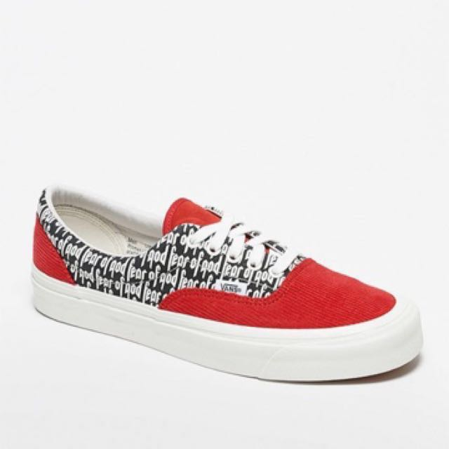 9b4793f753 fog x vans era 95 Vans x FOG - Fear Of God Era 95 DX Shoes (Red)