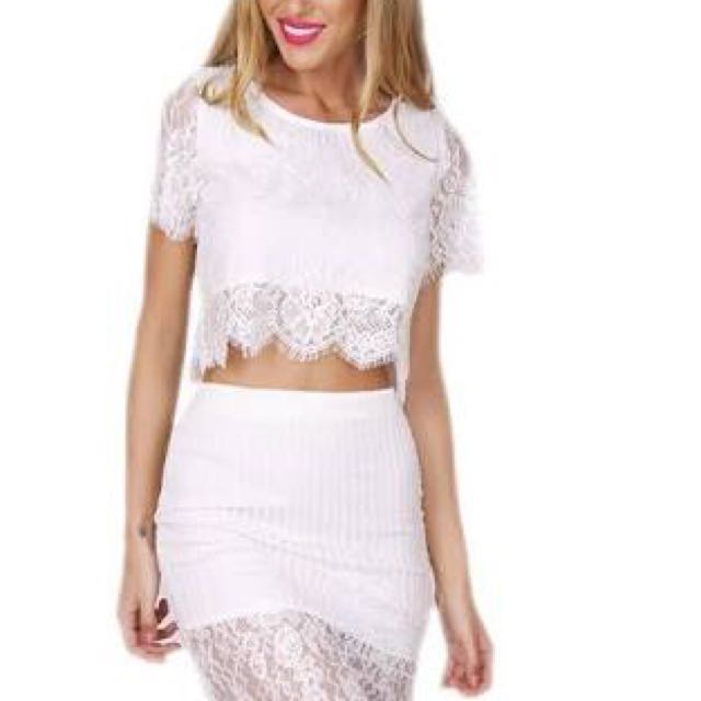 White Lace Set