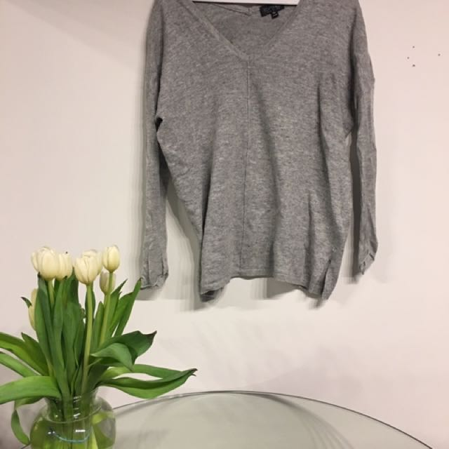 Wool blend topshop grey sweater size small (Aritzia lookalike)