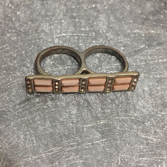XSML Dusty Pink Two Fingers Ring