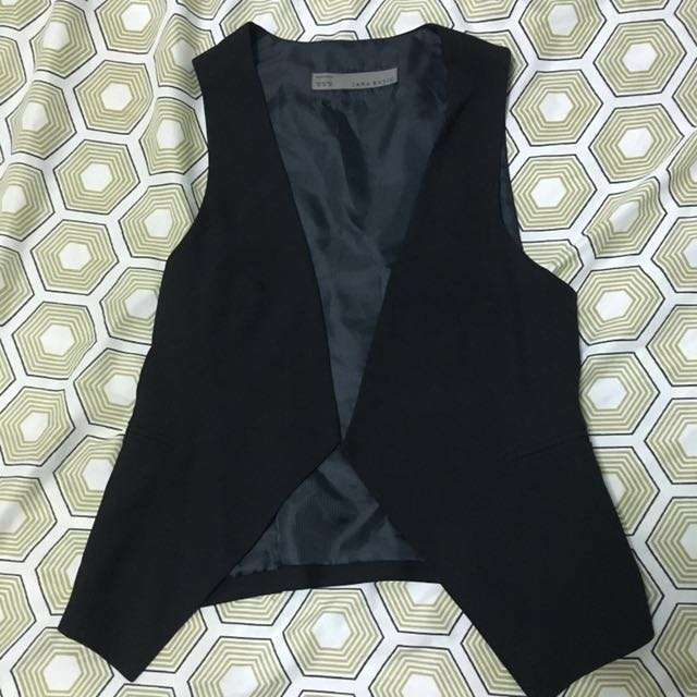 Zara Black Vest