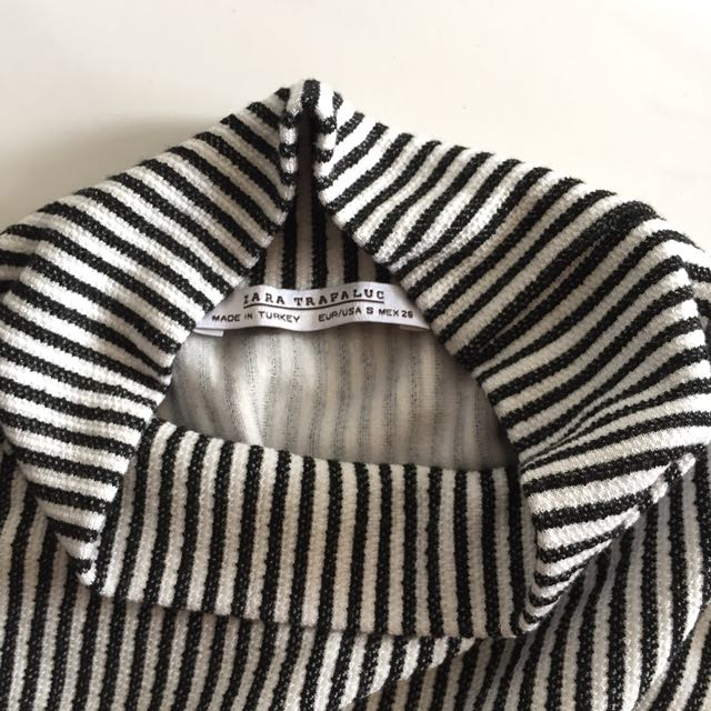 bf66a369 ZARA High-neck Stripe Sweater, Women's Fashion, Clothes, Tops on Carousell