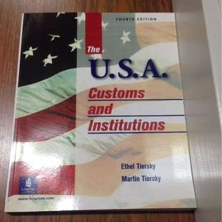 USA Custom and Institutions
