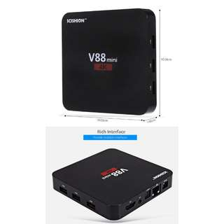 V88 Mini Android Tv Box RK3229 OS 6.0 1GB+8GB