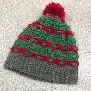 手鈎 男女童 聖誕帽