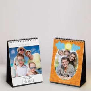 (Customisable) Desk Calendar 6' x 8'