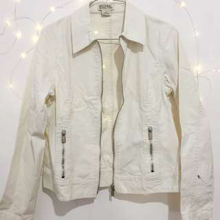 Michael Kors White Denim Jacket Top