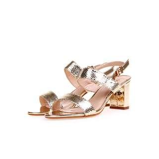 Akira heels party gold
