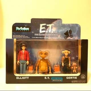 ReAction figure 3 pack limited edition-E.T.•Elliot•Gertie   E.T. 外星人
