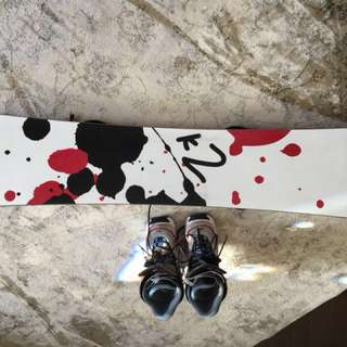 K2 snowboard and boots size 8/9 and Anthem bindings