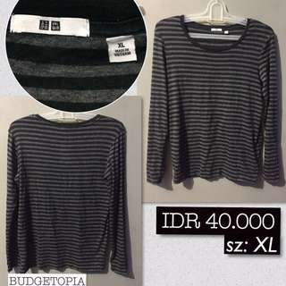 Uniqlo stripe long sleeve