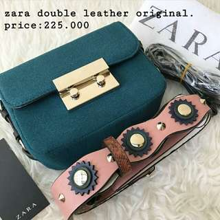 zara double leather original 💯