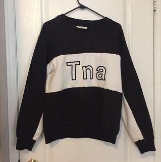 ARITZIA!! TNA logo sweater. Size S