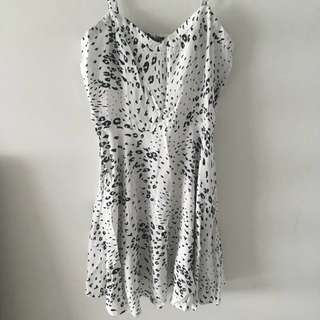 Cotton On white leopard print dress