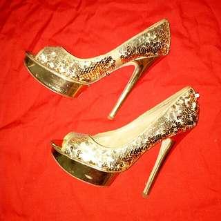 Aldo sequin heels