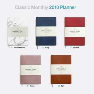 Classic Minimalist Leather 2018 Planner Made In Korea (In-stock)