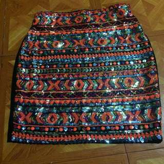 Glitzy sequin skirt