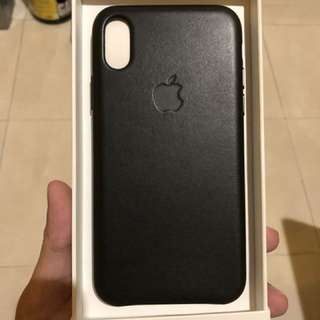 iPhone X Official Leather Case - Black