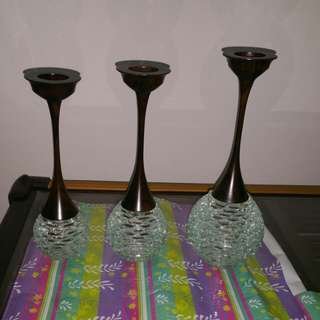 Three beautiful candle holders