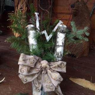 Custom Christmas Planters