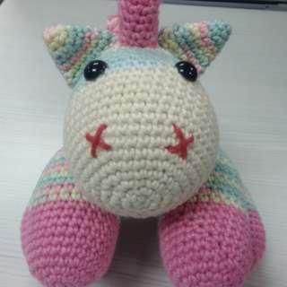Crocheted Baby Unicorn