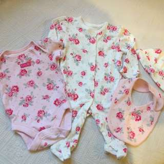 George UK Baby Girl Newborn Set
