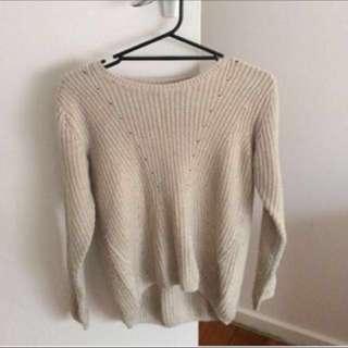 Knitted beige jumper, XS-S