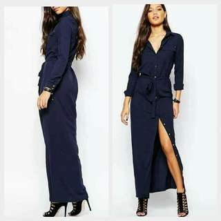 🎄New! Sale Price!  🎁 Great Gift Idea   Php480 only!  FOREVER21 STYLE LONG MAXI DRESS  📍Freesize: Fits Medium to Semi Large  📍1 Color: Navy Blue  📍Pre-order