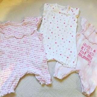 Baby Girl Romper Bundle From UK 0-3m
