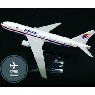 NEW Malaysia Airlines Boeing 777 (MH17 / MH370) Aircraft Model 16cm Die-cast Metal Airplane