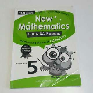 FREE NM📬Brand New New Mathematics CA & SA  Primary 5 Assessment Book