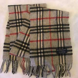 Vintage Burberry Scarf - boy/ girl length - made in England