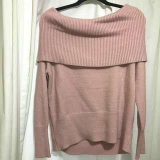 Mendocino off the shoulder sweater
