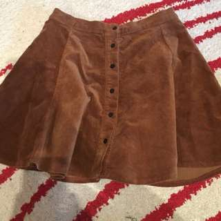 Brandy Melville Soft Brown Skirt Button Up One Size