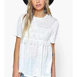 Brand New Boohoo White Summer Top
