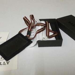Bally landyard. Colour chocolate. Material : calf.