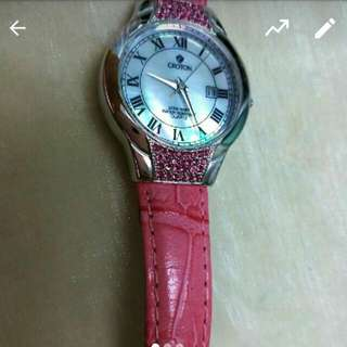 CROTON pink pretty mother of pearl dial watch AUD 100 -> 80 with shipping