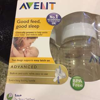 BN in Box and wrapped 2x avent bottle 1mo