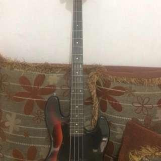 Bass guitar costum fender jazz bass