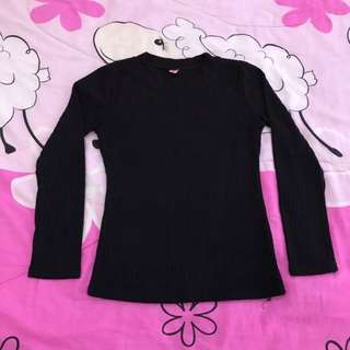 💟 S Size Black Long Sleeve Top~